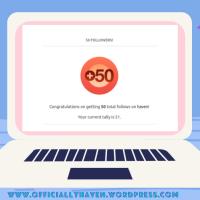 50 Followers Appreciation Post🥳🥳😭